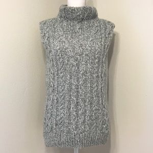 Topshop Sleeveless High Neck Sweater
